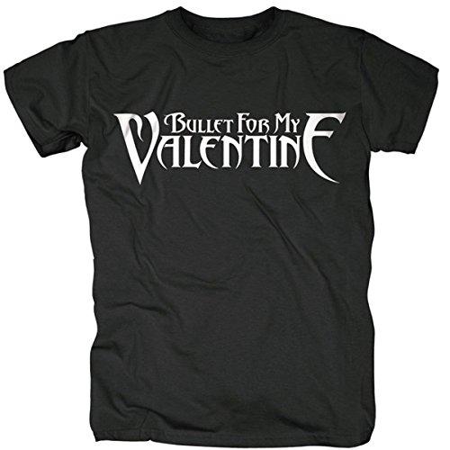 Bullet For My Valentine BFMV uomini XXL t-shirt bianco nero logo ufficiale