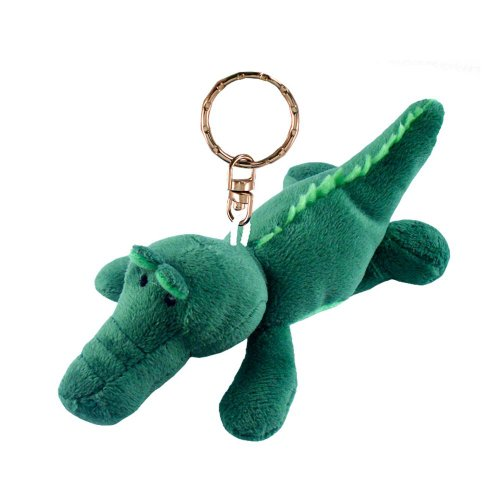 Puzzled Alligator Plush Keychain - 1