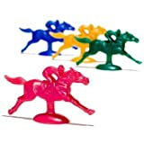 Plastic Horse and Jockey Figures (Assorted Colors)