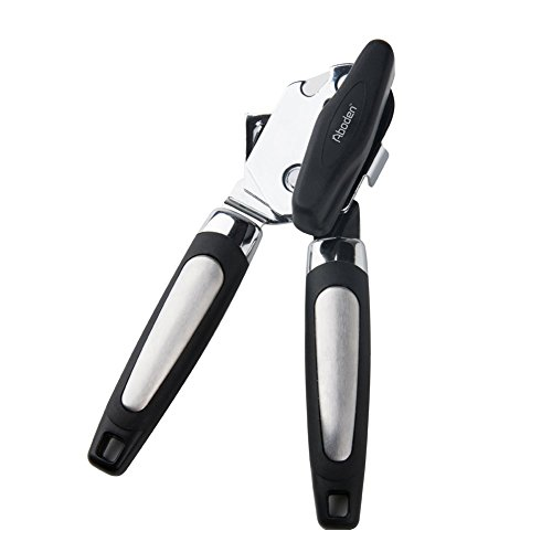 Aboden Smooth Edge Heavy Duty Manual Stainless Steel Can Opener with Non-Slip Handles and Over-Sized Knob