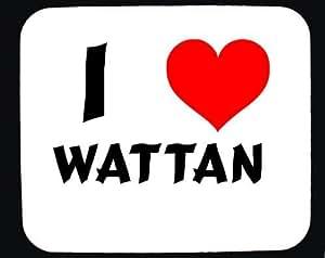 Amazon.com: I Love Wattan custom mouse pad (first name/surname