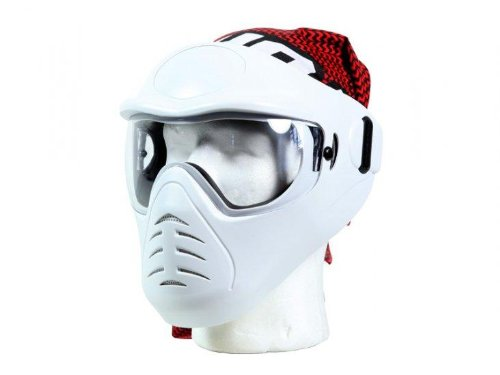 Bravo Face Pro Airsoft Mask - White