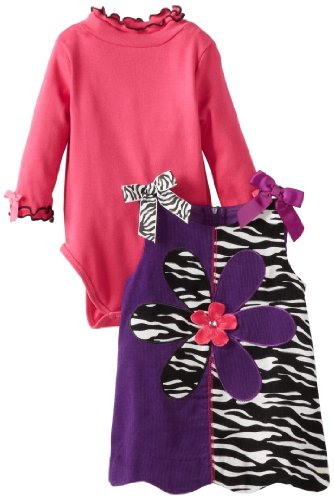Bonnie Baby Baby-Girls Infant Zebra Corduroy Jumper, Purple, 18 Months front-946807