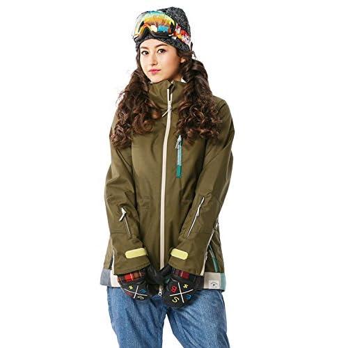 16'新作 43DEGREES スノーボードウェア スキーウェア スノボウェア レディース上下セット 30. Khaki × Denim like A Mサイズ