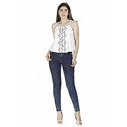 Gudi Women's Cotton Top_G5106WHITE-L_White_L