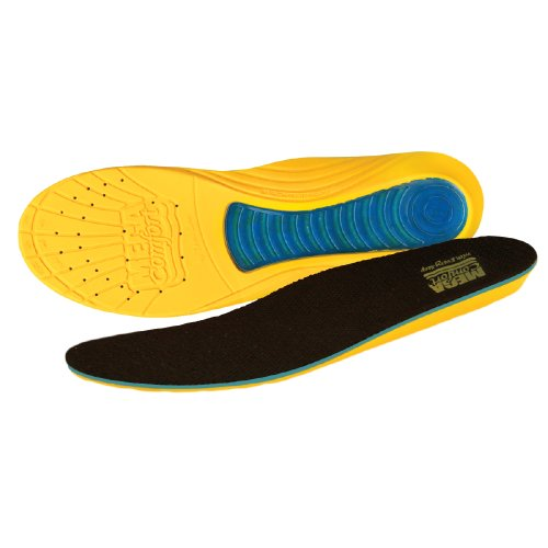 MEGAComfort MCMSM89/W1011 MEGASole Insoles, Dual Layered Memory Foam with Gel, Men's Size 8-9 Women's Size 10-11
