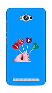 Amez designer printed 3d premium high quality back case cover for Asus Zenfone Max ZC550KL (Super Love Candie in Hand)