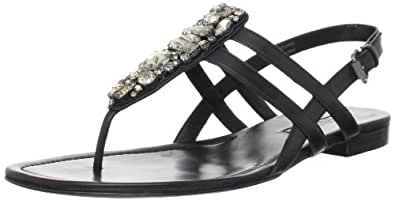 Vera Wang Lavender Women's Winnie Sandal,Black,9.5 M US