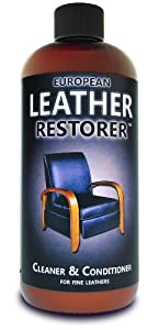 European Leather Restorer - Leather Cleaner & Conditioner #1 Best Cleaner and Conditioner for all fine leathers by Pacific Leather Works