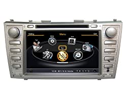 See SDB 2 Din 8.0 inch Car DVD Player With GPS Navigation(free Map) For Toyota Camry 2010,2011 Audio Video Stereo System with Bluetooth Hands Free, USB/SD, AUX Input, Radio(AM/FM), TV, Plug & Play Installation Details