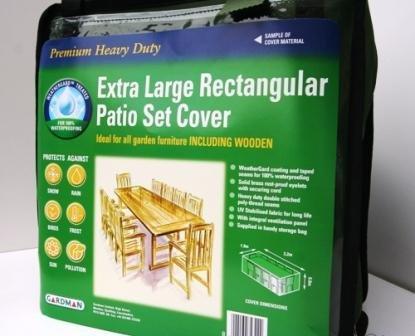 Gardman Prem Woven Poly Patio Set Cover (XL Rectang)