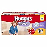 Huggies Little Movers Diapers, Giant Pack, Size 6, 35+ lbs 84 ea