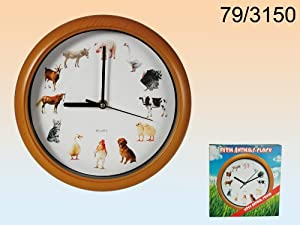 Low cost product - Reloj de pared melodía animales granja   Más información y revisión del cliente