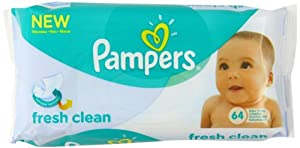 Pampers Fresh Clean Wipes - (Pack of 12) (768 Wipes)