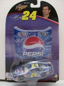 Jeff Gordon #24 Daytona 2004 Pepsi Paint Scheme 1/64 Scale & Bonus 1/24 Scale Magnet Hood Winners Circle - 1