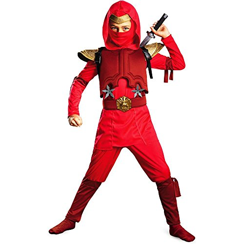 Red Fire Ninja Deluxe Toddler Costume - 3T-4T