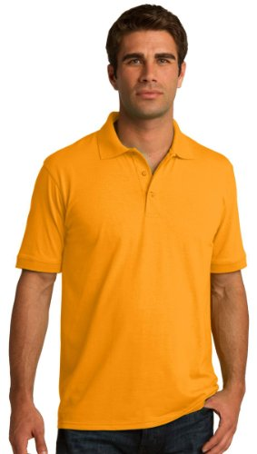 Port & Comapany Men's Big And Tall Knit Polo Jersey_Gold_XXX-Large Tall