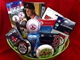 Boston Red Sox Fan Baseball Christmas Gift Basket