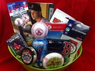 Boston Red Sox Fan Baseball Christmas Gift Basket