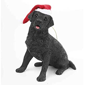 Amazon.com: Sandicast Black Labrador Retriever Christmas Ornament