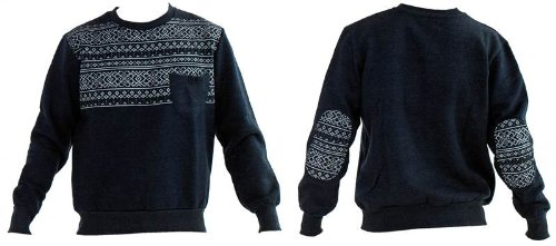Mens Boys S3 Designer USA Apparel Aztec Print Fleece Sweatshirt Top Jumper