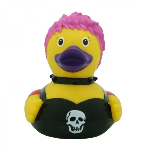 Lilalu 8 x 8 cm/50 g Collector and Baby Punk Rubber Duck Bath Toy