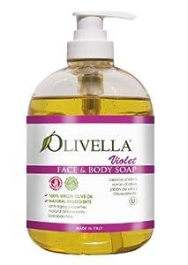 OLIVELLA Liquid Soap, Violet, 16.9 Fluid Ounce