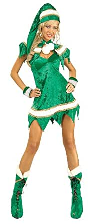 Secret Wishes Green Elf 5-Piece Costume, Green, Standard