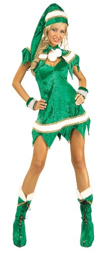 Secret Wishes Green Elf 5-Piece Costume
