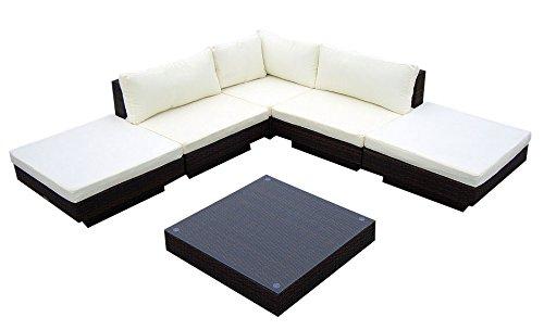 Baidani Gartenmöbel-Sets 10c00002.00001 Designer Rattan Lounge Sunqueen, 1 Sofa, 1 Beistelltisch mit Glasplatte, schwarz günstig bestellen