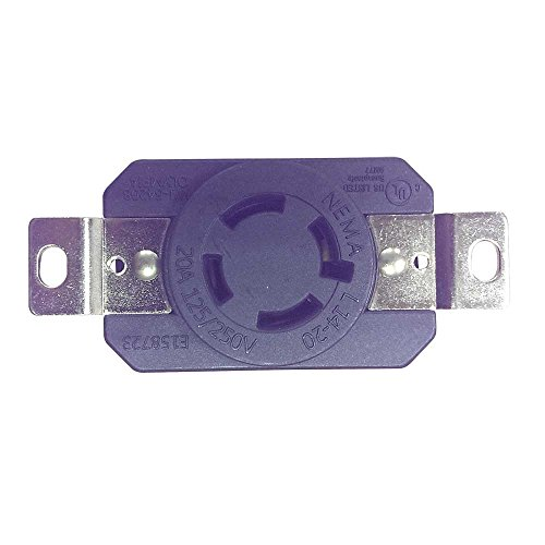 Superior Electric Ygp025F Wall Mount Locking Receptacle 4-Wire 20A 125/250V Nema L14-20R front-638159
