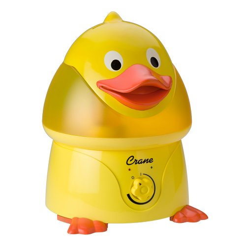 Crane Adorable Ultrasonic Cool Mist Humidifier with 2.1 Gallon Output per Day - Duck