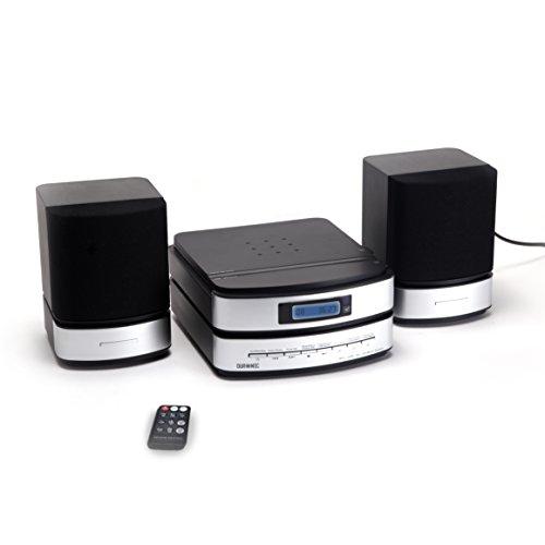 """Duronic RCD144 - Micro impianto audio Hi-Fi con lettore CD/MP3/USB/SD Card; funzionalità AUX/radio AM/FM con telcomando - Connetti e riproduci da MP3/iPhone/iPod/Smartphone - Adattatore di tipo """"F"""" incluso nella confezione."""
