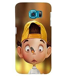 printtech Crazy Boy Back Case Cover for Samsung Galaxy S6::Samsung Galaxy S6 G920