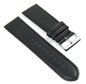 Herzog Beach relojenarmband Correa de Reloj piel de becerrocueroband 24mm negro 404824S por Herzog