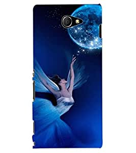 ColourCraft Lovely Angel Design Back Case Cover for SONY XPERIA M2