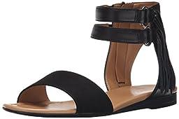 Franco Sarto Women\'s L-Greer Gladiator Sandal, Black, 5.5 M US