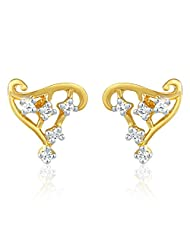 Mahi Gold Plated Earrings With CZ For Women ER1191401G