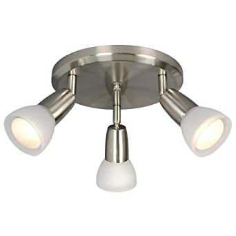 Galaxy Lighting 753183BN FR 3 Light Fixed Track Monopoint Close To Ceiling