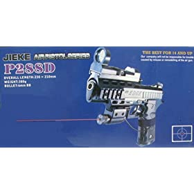 Jieke P288D Airsoft Pistol with Laser & Scope