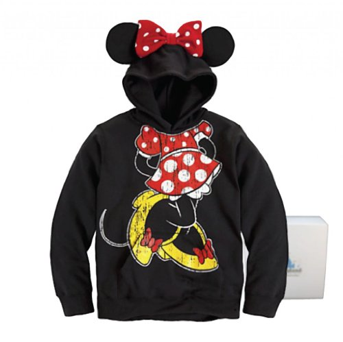 Disney Parks Minnie Mouse Ear Hoodie Youth Size - Limited Availability - Large