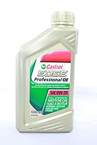 Castrol edge professional oe sae 0w 20 full for Sae 0w 20 synthetic motor oil