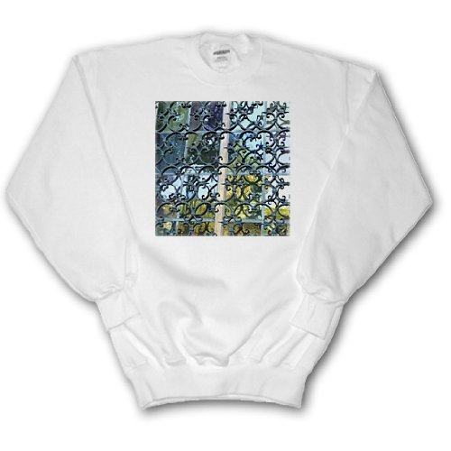 Florene Designer Texture - Wrought Iron and Stained Glass - Sweatshirts - Adult SweatShirt Small (ss_37335_1)