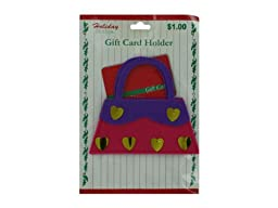 Holiday felt gift card holder - Case of 144