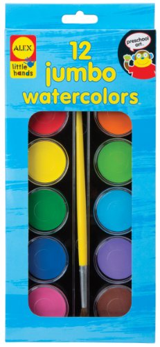 ALEX Toys Little Hands 12 Jumbo Watercolors - 1