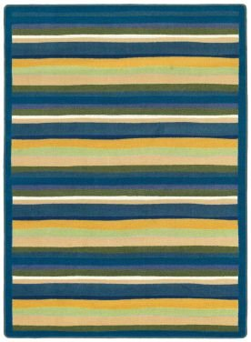 Joy Carpets Kid Essentials Active Play & Juvenile Round Yipes Stripes Rug, Bold, 5'4""