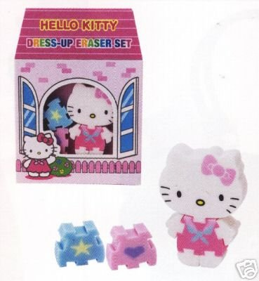 Hello Kitty Dress-Up Eraser Set