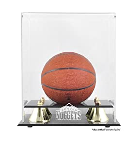 Mounted Memories Denver Nuggets Mini Golden Classic Team Logo Basketball Case by Mounted Memories