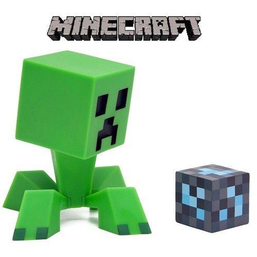 MINECRAFT Creeper マインクラフト クリーパー 15cm フィギュア & Diamond Block セット 【アメリカ輸入品】