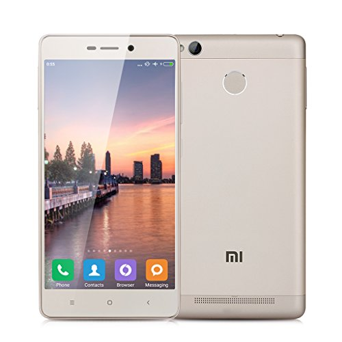 "Xiaomi Redmi 3 Pro - 32GB Smartphone-free 4G Lte (screen 5.0 "", camera 13Mp, Octa-core 1.5 GHz, 3GB RAM, fingerprint reader), Golden"